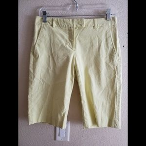 Theory Yellow Preppy Bermuda Casual Shorts